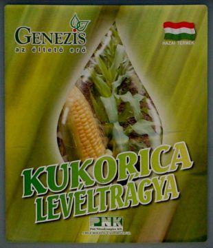 Genezis kukorica levéltrágya